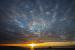 Setting Sun (Greater Manchester Police) Tags: blackpool beach sky sunset sun rays fylde northwestengland coast coastal coastalresort holidayresort