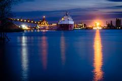 Glowing Industry (Neil Cornwall) Tags: 2019 april canada detroit detroitriver michigan ontario queenspark sandwich windsor canadasteamshiplines csltadoussac riverfront spring zugisland