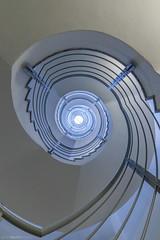 Blue Notes II (bjoernahrensfotografie) Tags: munich münchen architektur architecture lookup minimal spiral abstract stair stairway staircase treppe treppenhaus escalier canon canoneosr