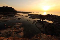 Sunset (Teruhide Tomori) Tags: sun sunset japan japon tango kyotango sea clouds landscape kyoto taiza 太陽 夕陽 夕日 夕焼け 空 sky 風景 日本 丹後半島 京丹後 丹後 海 日本海 京都 日没 海岸 間人 beach seashore shore