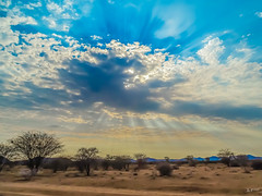 Skyexplosion in Namibia-1 (Joachim Spenrath Münster, Germany) Tags: namibia afrika heiss wolken sand sonne sonnenstrahlen himmel himmelsexplosion explosion sky sun sunbeams hot clouds blue blau