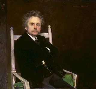 Peterssen, Eilif (1852-1928) - 1891 Portrait of Edvard Grieg