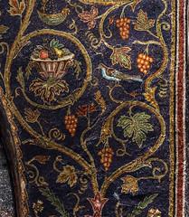 Go and Bear Fruit (Lawrence OP) Tags: jerusalem mosaic vine grapes fruit ceiling calvary holysepulchre church bird