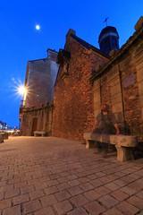 Le spectre de Notre-Dame de Lorette (Tonton Gilles) Tags: alençon normandie chapelle notredame de lorette heure bleue lune fantôme spectre transparent transparence silhouette personnage autoportrait pose longue banc paysage urbain mise en scène réverbère lampadaire étoile