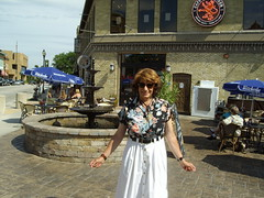 On A Warm Summer Day In 2011 (Laurette Victoria) Tags: laurette brunette woman wauwatosa blouse skirt sunglasses