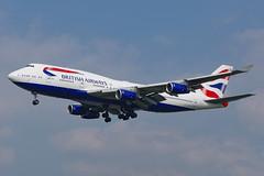 G-BYGE (c) 30/03/19 Heathrow (EGLL) (Lowflyer1948) Tags: gbyge boeing b747436 300319 heathrow myrtleavenue britishairways