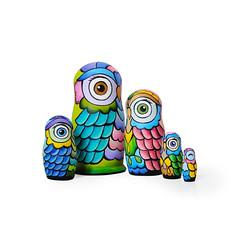 DSC07834 (fortmoon) Tags: owls etsy ecofriendly matryoshka handpainted
