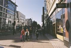 London (goodfella2459) Tags: nikonf4 afnikkor24mmf28dlens fujifilmpro400h 35mm c41 film analog colour city london streets buildings pedestrians road manilovefilm