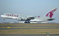 A7-APH, Airbus A380-861, c/n 197, QR-QTR-Qatari-Qatar Airways, CDG/LFPG 2019-02-17, rotation on runway 27L. (alaindurandpatrick) Tags: qr qtr qatarairways qatari airlines airliners jetliners a380 a388 a380800 airbus airbusa380 airbusa380800 megabus cdg lfpg parisroissycdg airports aviationphotography a7aph cn197