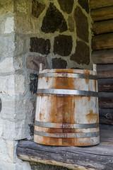Wooden bucket (AudioClassic) Tags: woodenbucket house estonia baltic wood wooden vintage architecture building brown home traditional wall background exterior texture rustic rural retro style frame countryside country rough glass design antique closed village aged detail cottage log ancient pattern construction outdoor decor decoration historic hardwood abandoned barn material history rusty obsolete architecturaldetail travel autumn fall
