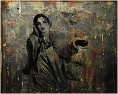 REMY CINDY 97 (REMYRO) Tags: color cool portrait tableau concept illustration art style femme surréaliste couleur lumière peinture mandicité main noire robe pauvreté sombre