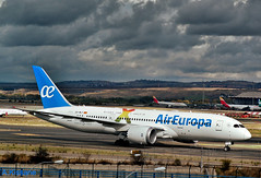 AIR EUROPA B787 EC-MLT (Adrian.Kissane) Tags: boeing taxing aireuropa b787 ecmlt madrid 7112018 36414 aeroplane aircraft plane jet airport spanish dreamliner 787 sky