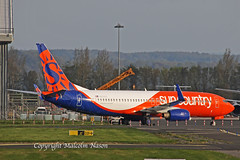 B737-8KN N834SY SUN COUNTRY (shanairpic) Tags: jetairliner passengerjet b737 boeing737 shannon flydubai suncountry a6fdr n834sy