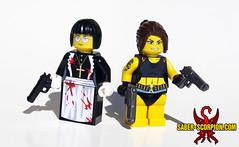 Roberta and Revy (Black Lagoon) (Saber-Scorpion) Tags: blacklagoon anime minifigures minifigs brickarms brickwarriors