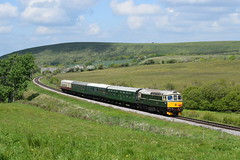 Some pictures from day 2 at the 2019 Swanage Diesel Gala. 11/05/2019 (Daniel50035 Railway Photography) Tags: class33 d6515 crompton corfecommon swanagedieselgala2019 swanagerailway swanagedieselgala