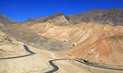 Gata loops in Ladakh (Rajiv Lather) Tags: ladakh jammukashmir india colddesert highaltitude pass image photograph photo road tanglangla 5328m 17480feet pic leh stark mountains himalayas highway manali paved hairpin gataloops landscape panorma desolate inhospitable dry rugged