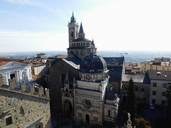 View of Bergamo's Cathedral fron the top of the Campanone - Civic Tower (litlesam1) Tags: churches italy2019 duepazziragazziamilano2019 march2019 bergamo