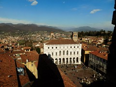View of Bergamo fron the top of the Campanone - Civic Tower (litlesam1) Tags: italy2019 duepazziragazziamilano2019 march2019 bergamo