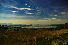 Looking Over Bute (Brian Travelling) Tags: scotland pentax pentaxk20d pentaxdal ayrshire northayrshire roadtrip roadside picture pentaxkr weather sun sunny bluesky moors fairlie moor road