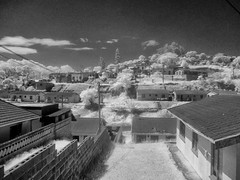 Soweto township Johannesburg South Africa deep contrast infrared (andrewantipin) Tags: africa southafrica soweto blackandwhite landscape architecture buildings city johannesburg