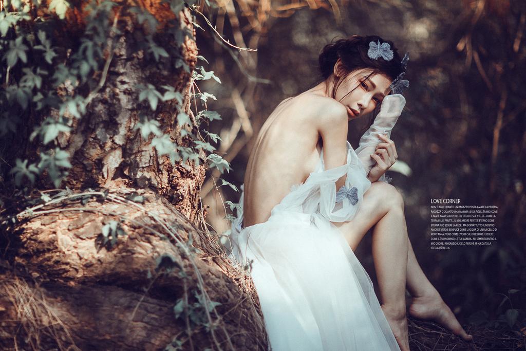 愛情街角|森林系的主題創作,硬派仙仙風|伊樂手工婚紗 - In Love
