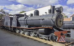 Former South Australian Railways (SAR) narrow gauge Steam Locomotive T181, built 1904 - see below (Paul Leader - Paulie's Time Off Photography) Tags: brokenhillnsw locomotivet181namedleweroberts silvertontramwaycompany steamlocomotive sulphidestreetrailwayhistoricalmuseumcomplex tclass vintagesteamlocomotive t181 railpage:class=334 railpage:loco=t181 rpausatclass rpausatclasst181 sar southaustralianrailways olympus olympusem10 paulleader vintagetrain steamtrain steamengine steam locomotive heritagelisted transport transportation train travel tourist rail railway railroad passenger nsw newsouthwales australia narrowgauge