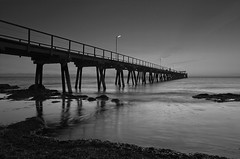 Largs Pier (dave.fergy) Tags: pier sunset beach leadinglines clouds reflection