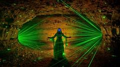 Bass Drop (palateth) Tags: lightpainting lightart night nophotoshop singleexposure urbex abandonnedplace backlight tunnel underworld laser