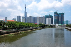 . (Out to Lunch) Tags: thu thiem district 2 new saigon manor canal river sky clouds urban suburban city scape development ho chi minh vietnam architecture fuji xh1 xf1423r