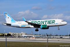 2019-02-16 MIA N304FR (Paul-H100) Tags: 20190216 mia n304fr airbus a320 neo frontier