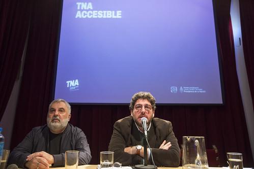 """Avelluto y Tantanian presentaron el """"TNA ACCESIBLE"""""""