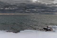 Lake Superior Winter Storm, Grand Marais, Minnesota (Tony Webster) Tags: grandmarais lakesuperior minnesota northshore tonywebster clouds frozen gloomy ice skies sky snow storm winter unitedstatesofamerica
