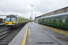 29018+29011 depart Connolly, 9/5/19 (hurricanemk1c) Tags: railways railway train trains irish rail irishrail iarnród éireann iarnródéireann 2019 class29000 caf commuter 29018 1350connollydrogheda rpsi railwaypreservationsocietyofireland mk2 mark2 dublin connolly
