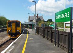 143617 & 150261 Barnstaple (4) (Marky7890) Tags: 143617 class143 pacer gwr 150261 class150 sprinter 2f39 barnstaple railway devon tarkaline train