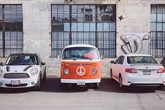 peace! (howard-f) Tags: iphone iphoneography shotoniphone la losangeles losangelesgrammers mundane banal vsco vw peace vwbus volkswagen artsdistrict orange comparison retro vintage stationwagon middle