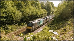 Lineside clearance.... (peterdouglas1) Tags: valleyflasks 6d43 directrailservices class88 88005 88003 minerva genesis northwalescoastrailway llandygai
