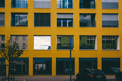 Yellow Building (Bephep2010) Tags: 2019 dscrx1 frühling gebäude graubünden grisons himmel landquart rx1 reflektion schweiz sony switzerland building gelb reflection sky spring yellow kantongraubünden