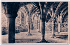 Battle Abbey - The Crypt (pepandtim) Tags: postcard old early nostalgia nostalgic battle abbey crypt norman series shoesmith etheridge hastings benedictine sussex 45cry92