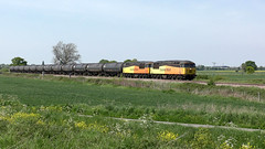 56087 & 56105 6E32 Preston - Lindsey 14/05/19. (Mr Corbett's stuff) Tags: 56087 56105 6e32 mauds bridge preston lindsey bitumen tanks colas