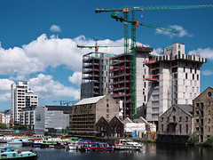 Bolands Quay Development from Grand Canal Dock Station (turgidson) Tags: panasonic lumix dmc g9 panasoniclumixdmcg9 panasonicg9 micro four thirds microfourthirds m43 g lumixg mirrorless hes12060 leica dg varioelmarit 1260mm f284 asph panasonicleicadgvarioelmarit1260mmf284asph zoom silkypix developer studio pro 9 silkypixdeveloperstudiopro9 raw dublin ireland bolands mill bolandsmill quay redevelopment burke kennedy doyle burkekennedydoyle bkd architects bam contractors p1000341 grand canal dock grandcanaldock station