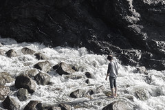 Homesick (Gavin Minera) Tags: nature people person water waterfall rocks heaven mountains pnw oregon beach coast white portrait