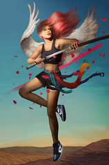 air-jordan-gotta-shine (Nathaly Cuervo R) Tags: fine art painting nike air jordan angel sneakers jump nathaly cuervo