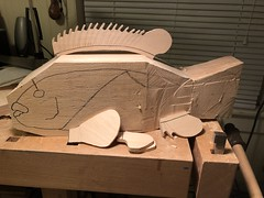 2018-03-15 22.59.42 (Dr.DeNo) Tags: 2018 spring black fish tautog wood carving carver whittle art marine block start