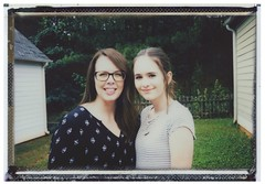 Mom & Daughter - Mothersday Portrait. (randywebb1) Tags: speedgraphic film fuji instant instax portrait 4x5 largeformat