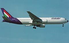 MALEV B-767-300ER HA-LHC (postcard) (KristofCs) Tags: malev hungarian airlines boeing 767 b767 postcard képeslap airline aviation halhc 767300