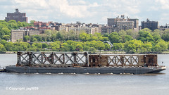 Old Tappan Zee Bridge Superstructure Remains floating down the Hudson River, New York City (jag9889) Tags: nyc newyorkcity bridge ny newyork 1955 metal river puente boat crossing outdoor harlem manhattan bridges structure ponte infrastructure pont hudsonriver brücke scrap barge span dismantling punt tappanzee hamiltonheights bruecke 2019 newyorkthruway governormalcolmwilsontappanzeebridge k004 usa water unitedstates unitedstatesofamerica transportation tugboat tug waterway workboat tappanzeebridge jag9889 20190516