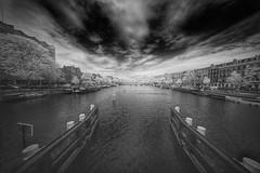 River Amstel, Amsterdam, Netherlands (Bartonio) Tags: ir modified sony laowa infrared amsterdam