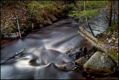 Fors vid Härjebacka (Jonas Thomén) Tags: rapids fors stream creek longexposure långexponering rock sten