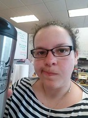 Katie - Mug shot with coffee from work (litlesam1) Tags: katie spring2019 april2019