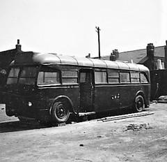 Ex London transport Q56 in Attercliffe 1956. (Ledlon89) Tags: aec aecqtype lptb lt lte londontransport q56 bus buses london londonbus londonbuses vintagebus carbrookhotel attercliffe 1956